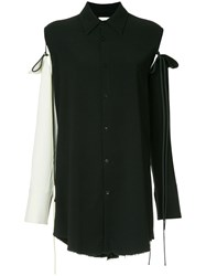 Song For The Mute Asymmetric Long Sleeved Blouse Black