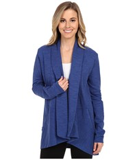 Lucy Tranquility Slub Wrap Sodalite Blue Heather Women's Sweater