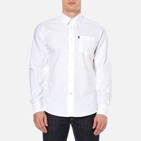Barbour Men's Stanley Oxford Long Sleeve Shirt White