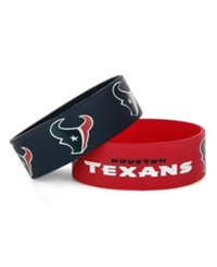 Aminco Houston Texans Wide Bracelet 2 Pack Team Color