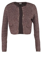 Vero Moda Vmolivia Cardigan Fudge Dark Brown