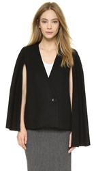 Tibi Asymmetrical Cape Blazer Black