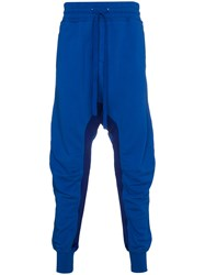 Haider Ackermann Cuffed Sweatpants With Dropped Crotch Cotton Blue