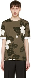 3.1 Phillip Lim Green Floral T Shirt