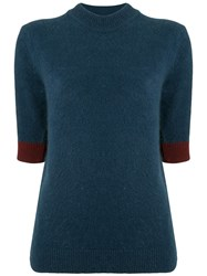 Eudon Choi Isidore Knitted Top Blue
