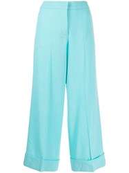 Giada Benincasa Creased Cropped Trousers Blue