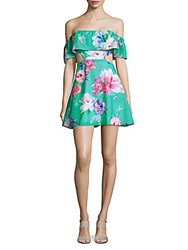 6 Shore Road Main Off The Shoulder Floral Beach Dress Green Lake Floral