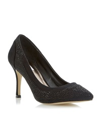 Untold Bretta Diamante Court Shoe Black