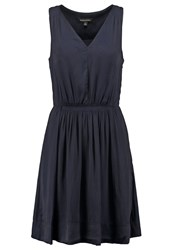 Banana Republic Goddess Summer Dress Preppy Navy Dark Blue
