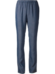 Crippen Slim Fit Trousers Blue