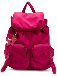 See By Chloe Star Embellished Rider Large Backpack Pink And Purple