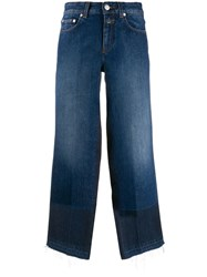 Closed Cropped Jeans Blue