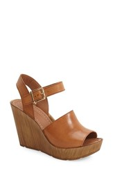 Women's Topshop 'Willow' Platform Wedge Sandal 3 3 4' Heel