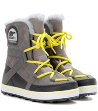Sorel Glacy Explorertm Suede Ankle Boots Grey