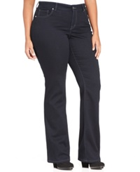 Styleandco. Style And Co. Plus Size Tummy Control Embellished Bootcut Jeans Rinse Wash