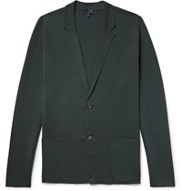 Lanvin Wool And Silk Blend Cardigan Dark Green
