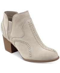 Indigo Rd. Satori Western Block Heel Booties Women's Shoes Light Grey
