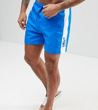 Majestic L.A Dodgers Swimshorts With Panel In Blue Navy