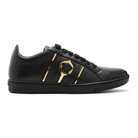 Versace Black Leather Martin Sneakers