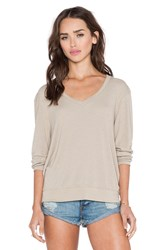 Wildfox Couture Essential Baggy Beach V Neck Taupe