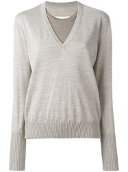 Maison Martin Margiela Layered Effect Sweater Nude And Neutrals