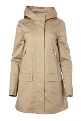 Carolina Cavour Womens Cotton Hooded Jacket Brown