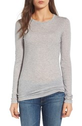 Ag Jeans Women's The Logan Cotton And Cashmere Tee Heather Grey