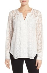 Nydj Women's Embroidered Georgette Blouse