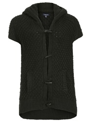 Samya Plus Size Hooded Toggle Cardigan Black