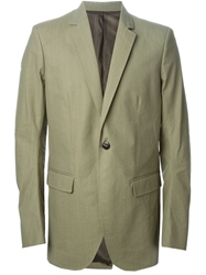 Thamanyah Dislocated Shoulder Single Breasted Jacket Green