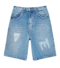 J.W.Anderson Distressed Denim Shorts Male Blue