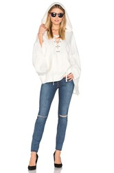 Pam And Gela Laceup Cape White