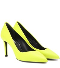 Balenciaga Leather Pumps Yellow
