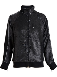 Filles A Papa Sequined Tracksuit Jacket Black