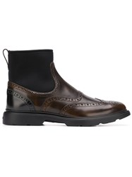Hogan Classic Ankle Boots Brown