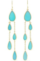Ippolita Polished Rock Candy 18 Karat Gold Turquoise Earrings