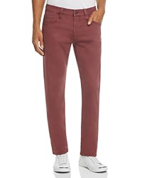 Mavi Jeans Zach Straight Fit Five Pocket Chinos In Burgundy Burgundy Red