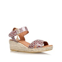 Kurt Geiger Libby Low Wedge Heel Sandals Red