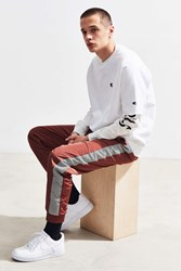Urban Outfitters Uo Side Tape Wind Pant Chocolate