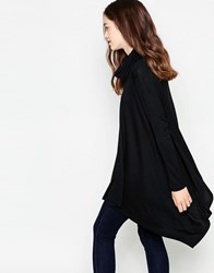 Mela Loves London High Neck Oversized Jumper Black