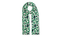 Whistles Floral Leopard Print Scarf Green Multi