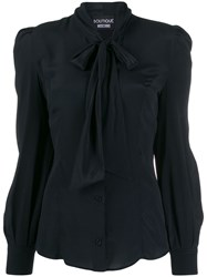 Boutique Moschino Pussy Bow Blouse Black