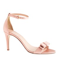 J.Crew Satin Bow High Heel Sandals Vintage Blush
