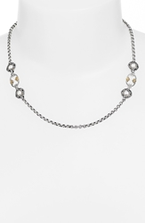 Konstantino 'Selene' Station Necklace Silver Gold