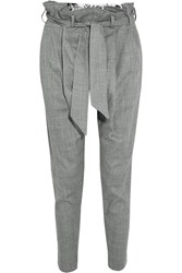 Vivienne Westwood Kung Fu Flannel Tapered Pants Gray