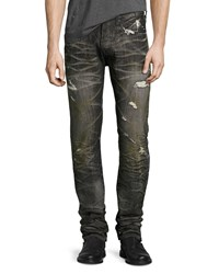 Prps Distressed 3D Crinkle Relaxed Slim Jeans Black