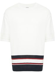 Coohem Sporty Knit Sweater White