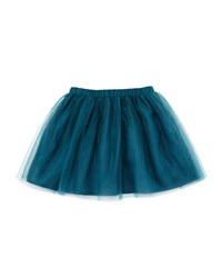 Il Gufo Tulle A Line Skirt Green