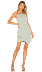 Elliatt Affogato Dress In Green. Sage