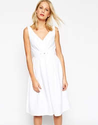 Asos 50'S Belted Prom Dress White